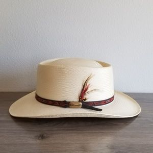 Beaver Hats Straw Hat Sz. 7 3/8